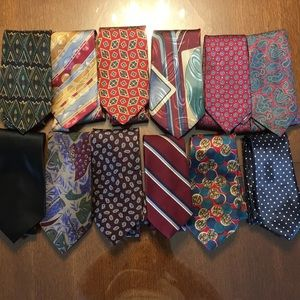 Other - 12 MENS TIES 👔 yes 1 doz! Used-no stains or wear